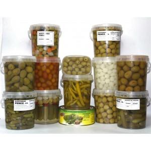 Pack completo de aceitunas y encurtidos formato 1 kg