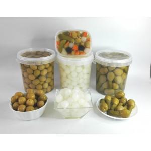 Aceitunas verdes, kimbo y cebolla formato 1kg neto
