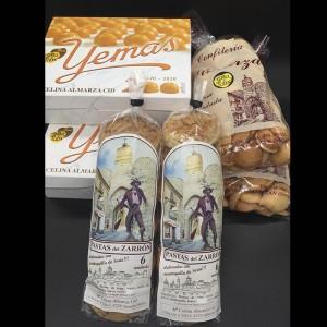 Pack 1 Dulces de Almazán, Yemas, Paciencias, Pastas del Zarrón
