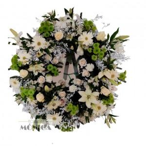 Corona silvestre blanca(Floristerias Monica)