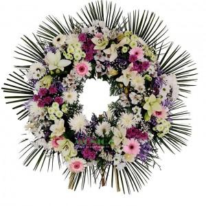 Corona de flor variada(Floristerias Monica)
