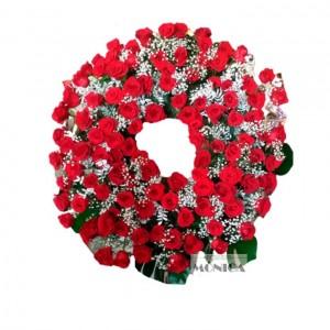 Corona de rosas rojas(Floristeria Monica)