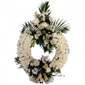 Corona de dos cabezales (Floristerias Monica)
