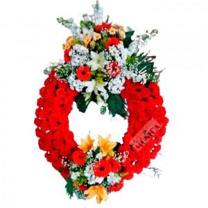 Corona Roja dos Cabezales(Floristerias Monica)