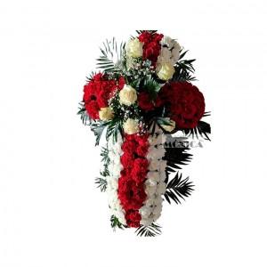 Cruz de claveles y rosas(Floristerias Monica)