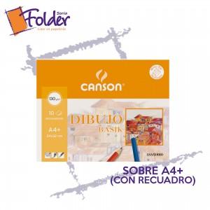 LÁMINAS DE DIBUJO A4+ CANSON (C/RECUADRO)