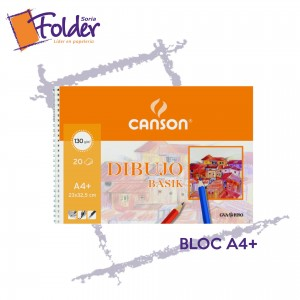 BLOC DE DIBUJO A4 CANSON C/ESPIRAL