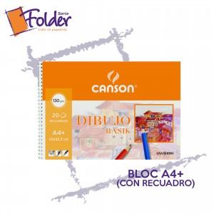 BLOC DE DIBUJO A4+ CANSON C/RECUADRO Y ESPIRAL