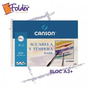 BLOC DE DIBUJO PARA ACUARELA A3+ CANSON C/ESPIRAL