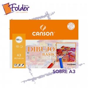 LÁMINAS DE DIBUJO A3 CANSON