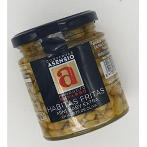 Habitas en aceite de oliva