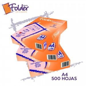 PAQ. FOLIOS FOLDER A4 80g.