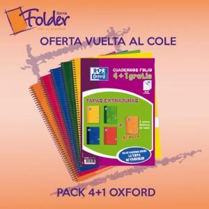 PROMO VUELTA AL COLE 4+1 CUADERNOS OXFORD