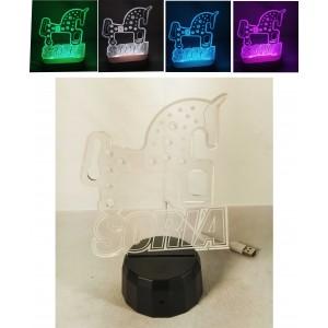 Lámpara leds con base de plástico