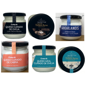 Selección de 4 Cremas de queso naturales variadas