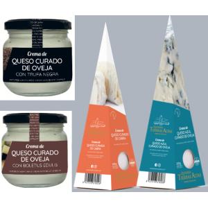 Pack de 4 Cremas de queso naturales  en dos formatos
