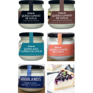 Selección 5 cremas de queso naturales 100%