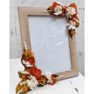 Marco de fotos flores preservadas