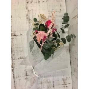 Ramo de dos rosas preservadas