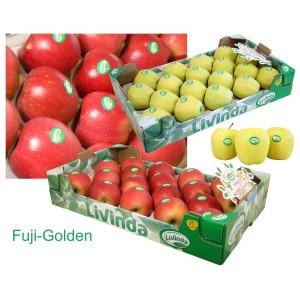 MANZANAS DE SORIA: 2 Cajas de manzanas de 18 uds. Variedades FUJI y GOLDEN DELICIUS . Peso aprox. 9 kg