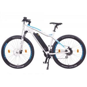 "Bicicleta eléctrica de montaña 27,5"" NCM Moscow Plus, blanca y azul"